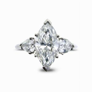 Marquise Cut  Engagement Ring With Pear Shape  Shoulders 2.00ct G VS2 GIA